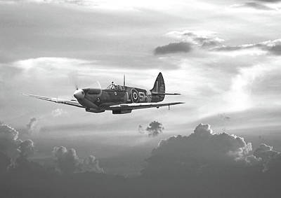 Digital Art - Spitfire - And Shadows Fall by Pat Speirs