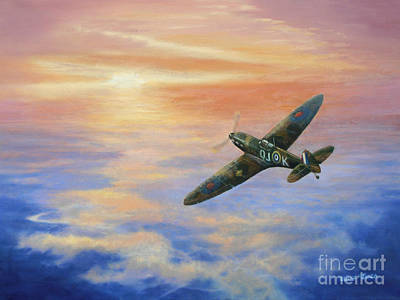 Spitfire At Sunset Original