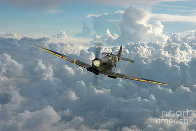 611 Digital Art - Spitfire Bs435 by J Biggadike