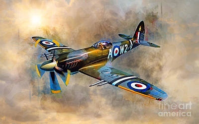 Spitfire Dawn Flight Art Print