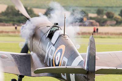 Photograph - Spitfire Engine Start Smoke Rings by Gary Eason