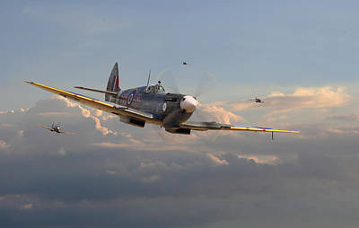 Britain Photograph - Spitfire - Homeward by Pat Speirs