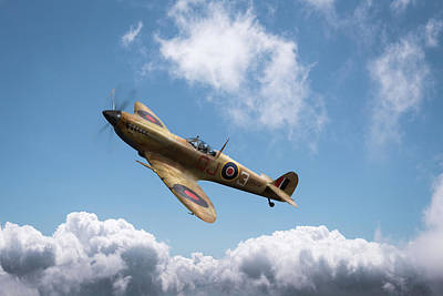Photograph - Spitfire In Desert Colours by Gary Eason