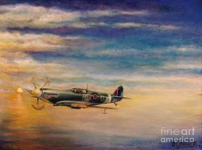 Bono Digital Art - Spitfire In Flight by Liam O Conaire