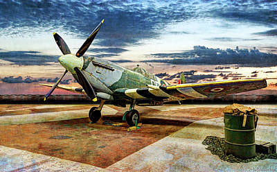 Photograph - Spitfire In Wait - Vintage by Weston Westmoreland