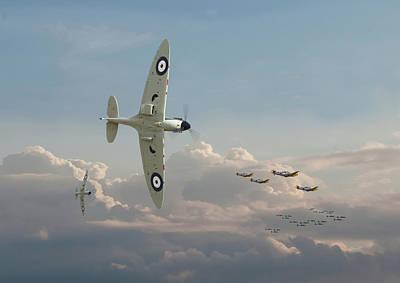 Digital Art - Spitfire - Long Odds by Pat Speirs