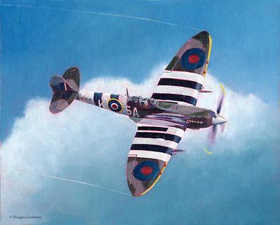 Painting - Spitfire Mark Ix Wingover by Douglas Castleman