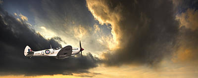Flying Planes Photograph - Spitfire by Meirion Matthias