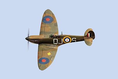 Spitfire Mk 1 R6596 Qj-s Art Print