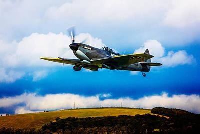 Digital Art - Spitfire Mk Xvi Te311 by Chris Lord