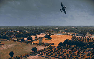 Painting - Spitfire Over Normandy by Andrea Mazzocchetti
