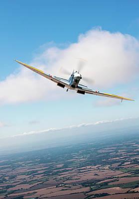 Photograph - Spitfire Poster Vertical by Gary Eason