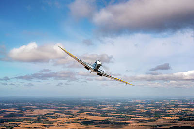 Photograph - Spitfire Poster Wide  by Gary Eason