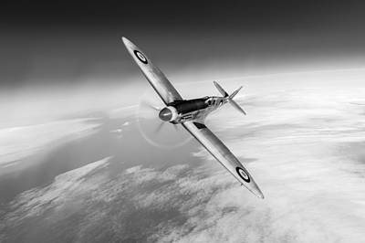 Photograph - Spitfire Pr Xix Ps852 Black And White Version by Gary Eason