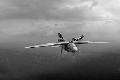 Photograph - Spitfire Pr Xix Ps915 Inverted by Gary Eason
