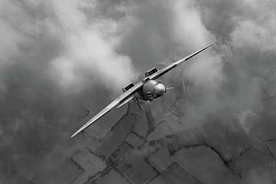 Photograph - Spitfire Pr Xix Ps915 Looping Bw Version by Gary Eason