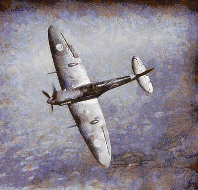 Plane Painting - Spitfire by Esoterica Art Agency