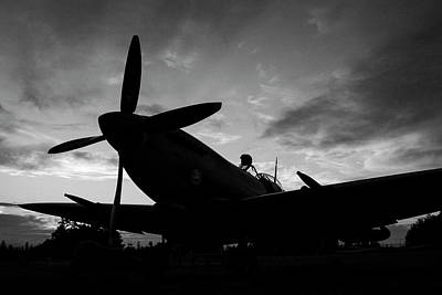 Photograph - Spitfire Silhouette by John Clark