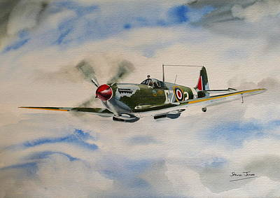 Painting - Spitfire by Steve Jones