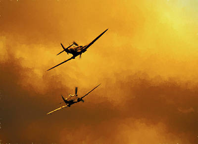 Photograph - Spitfire Sunset by Ian Merton
