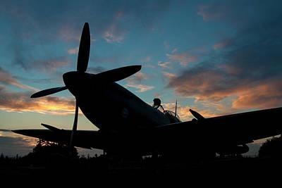 Photograph - Spitfire Sunset by John Clark