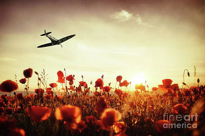 Remembrance Digital Art - Spitfire, The Final Sortie by J Biggadike
