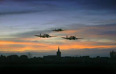 Raf Photograph - Spitfire Trio  by Jason Green