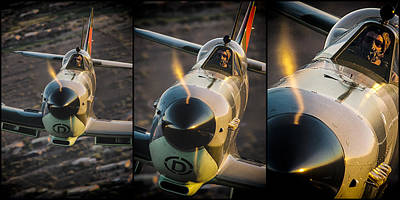 Photograph - Spitfire Triptych by Jay Beckman