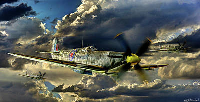 Photograph - Spitfires Coming From The Sun by Weston Westmoreland