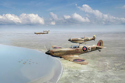 Photograph - Spitfires Over Tunisia by Gary Eason