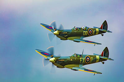 Photograph - Spitfires Rule The Skies by Chris Lord
