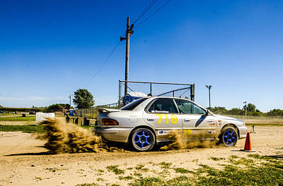 Subaru Rally Photograph - Spittin' Dirt by Joel Rood