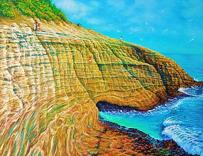Spitting Caves Of Portlock Point Art Print