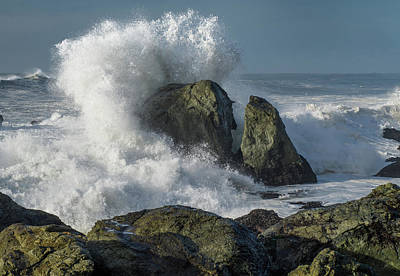 Photograph - Splash Against Sea Stack by Greg Nyquist