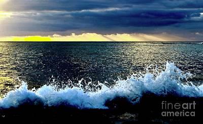 Photograph - Splash At Sunset by Craig Wood