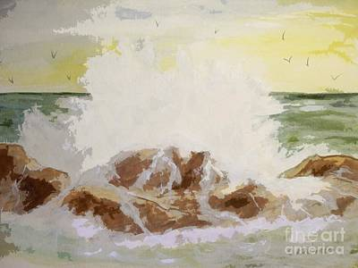 Art Print featuring the painting Splash by Carol Grimes