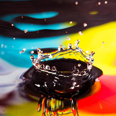 Photograph - Splash Crown by Steven Green