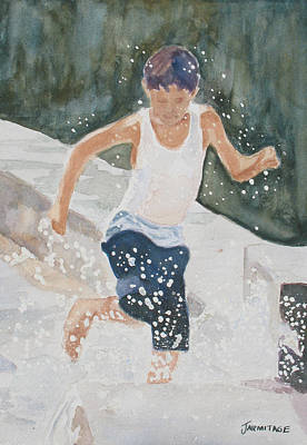Water Play Painting - Splash Dance by Jenny Armitage