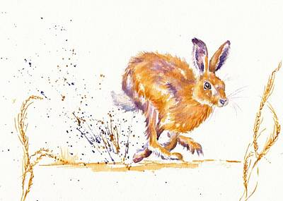 March Hare Painting - Splash by Debra Hall