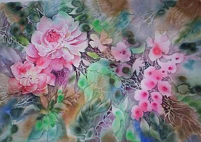 Painting - Splash Flowers     by June Conte Pryor