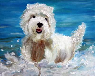 Canine Painting - Splash by Mary Sparrow