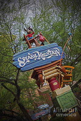 Photograph - Splash Mountain Sign by AK Photography