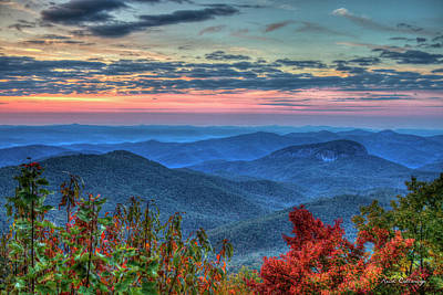 Photograph - Splash Of Color Looking Glass Rock Sunrise Art by Reid Callaway