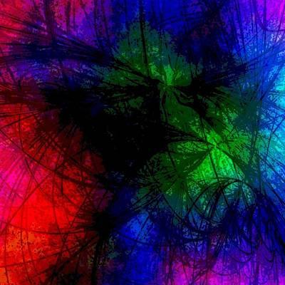 Trippy Digital Art - Splash Of Color by Thomas Morey