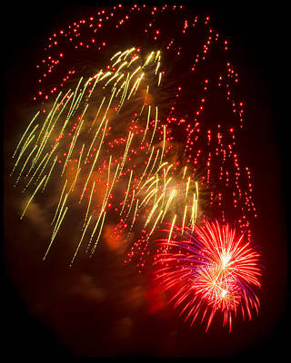 Photograph - Splash Of Fireworks by Bonnie Follett