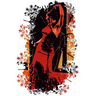 Painting - Splash Of Flamenco by Andrea Mazzocchetti