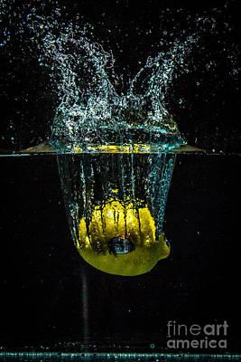Wall Art - Photograph - Splash Of  Lemon by Marj Dubeau