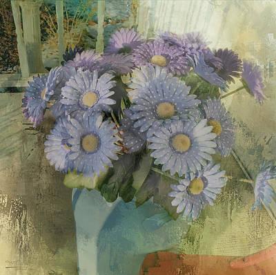 Creative Manipulation Photograph - Splash Of Purple Flowers by Theresa Campbell