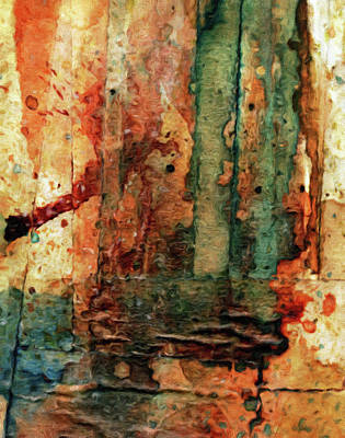 Colorful Abstract Mixed Media - Splash Of Reality Abstract by Georgiana Romanovna