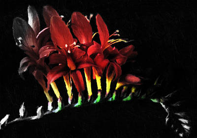 Green Mixed Media - Splash Of Red Romance by Georgiana Romanovna